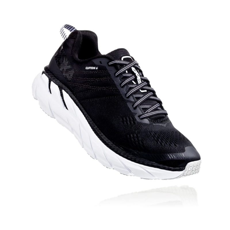 Hoka Clifton 6 Wide Black / White - Herr