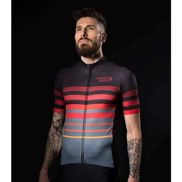 Stolen Goat Segment Short Sleeve Cycling Jersey Red - Herr 103598f08