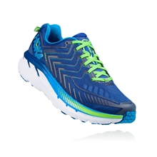 Hoka CLIFTON 4 True blue/ Jasmine green Herr